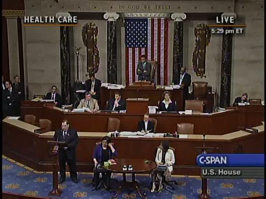 Watch my speech in favor of health insurance reform